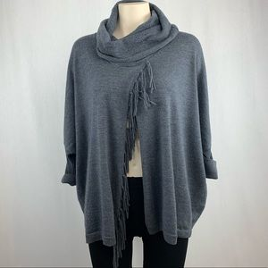 Repeat Cashmere Cowl Neck Poncho Style Sweater XS